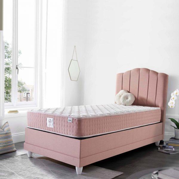 מיטה מרופדת עם ארגז דגם דיווה לרטה