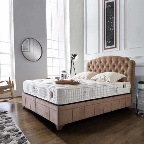 מיטה מרופדת עם ארגז מצעים דגם דיווה סילואט