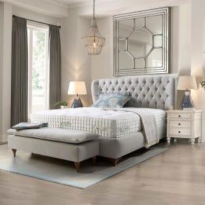 מיטה מרופדת עם ארגז מצעים דגם נובה אוליביה