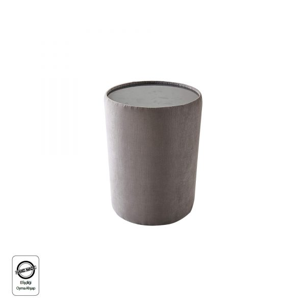 שידה ליס עגולה עם זכוכית בחלק עליון